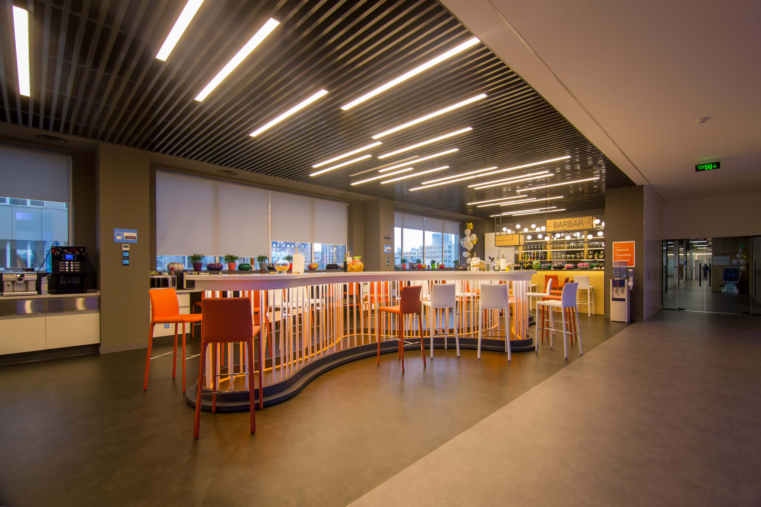 Interior of MOPs. Features and stages of development of the design project public places 6