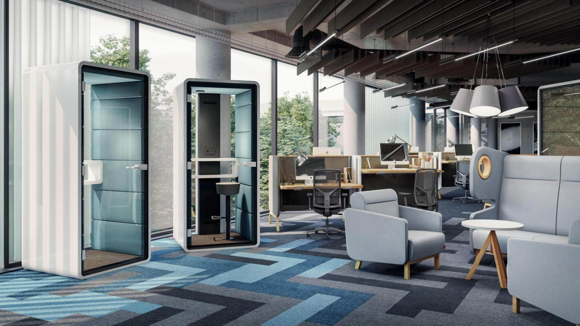 Modern office furniture is an integral part of the office interior