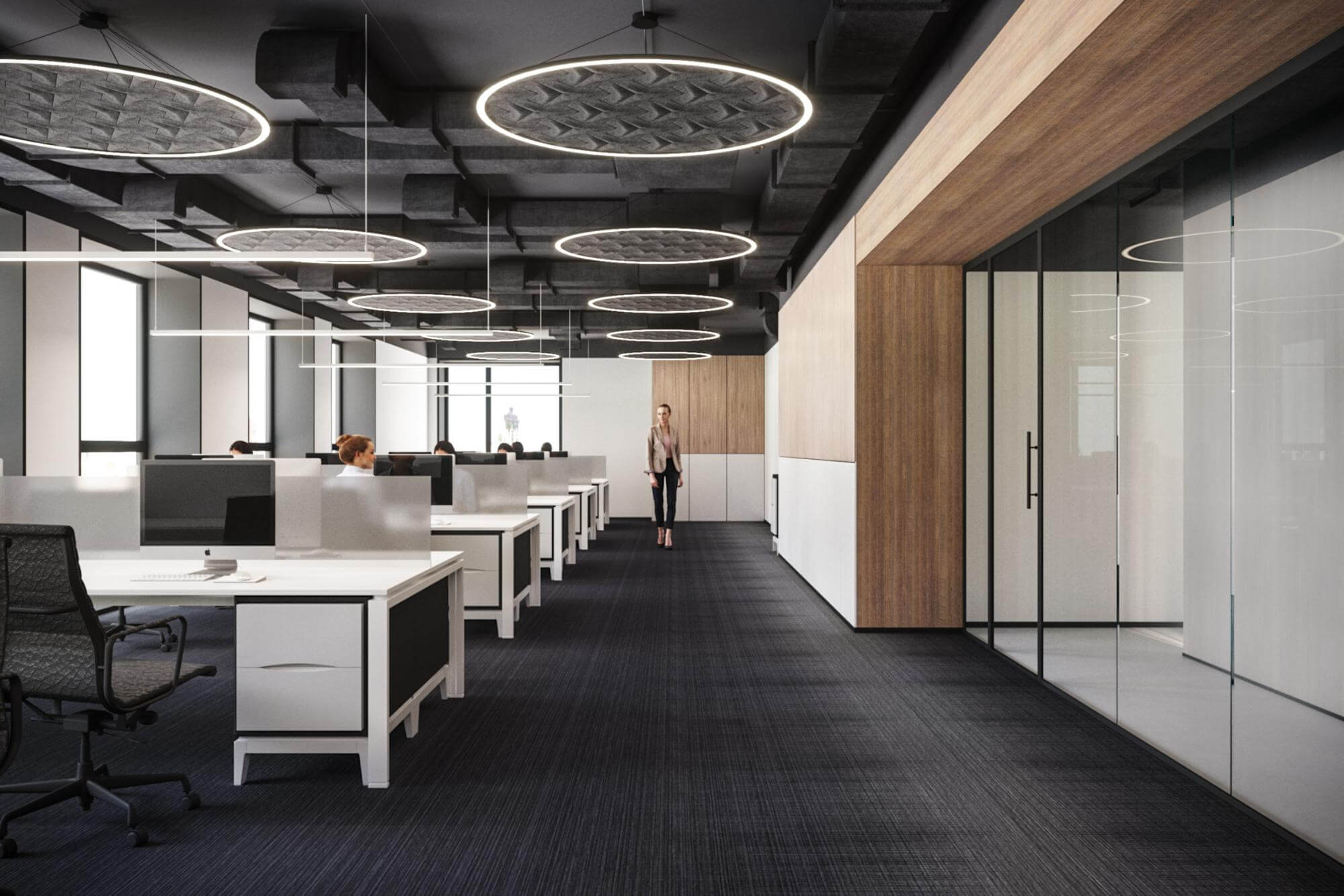 OPEN modern office design SPACE and acoustics