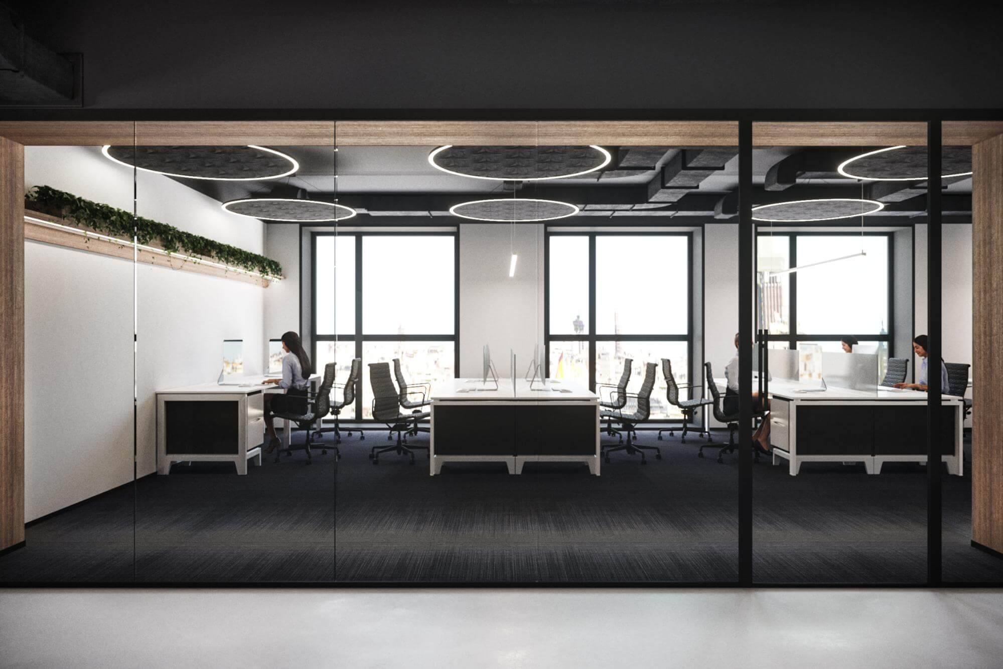OPEN modern office design SPACE and acoustics 1