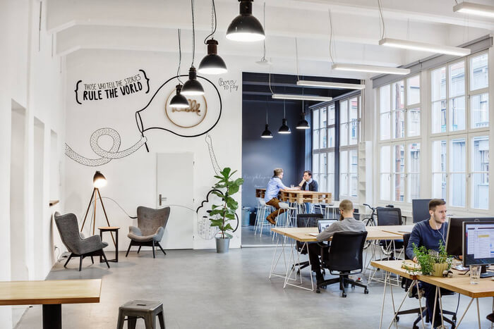 How to organize interior design of the office to enhance the creative employees' creative potential?