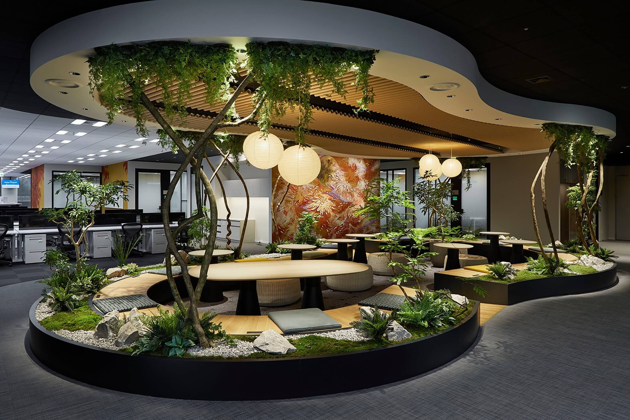 Biophilic design in office spaces
